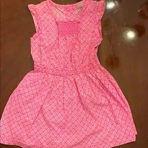 Pink patterned Carter's dress.